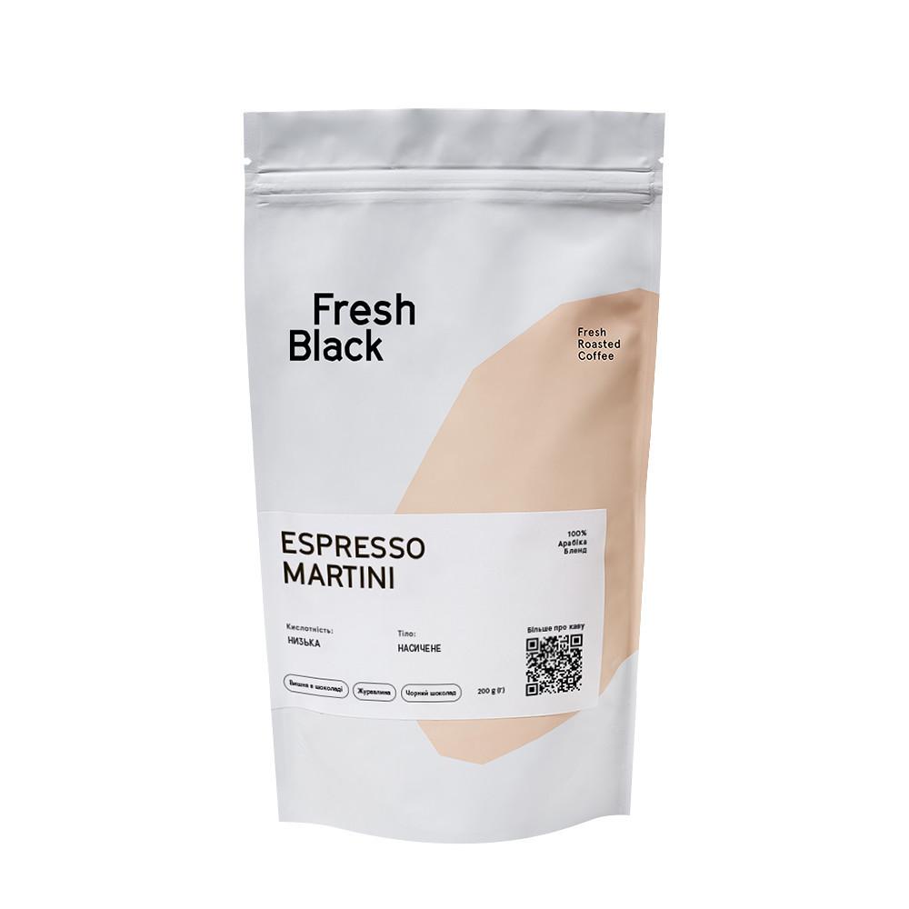 Кофе свежеобжаренный в зернах blend Espresso Martini Fresh Black Nuare фото