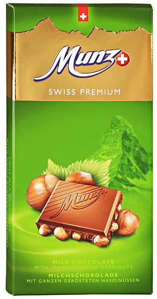 Молочный шоколад с цельным фундуком Munz фото