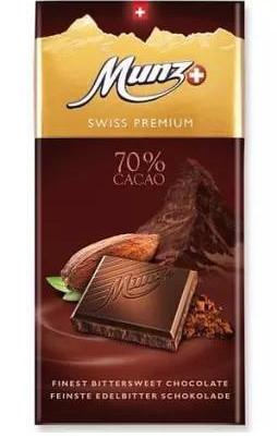 Черный шоколад 70% Munz фото