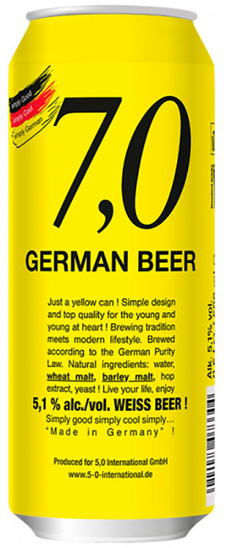 7,0 German Beer Weiss нефильтрованное фото