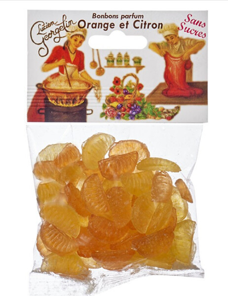 Конфеты со вкусом апельсина и лимона Lucien Georgelin фото
