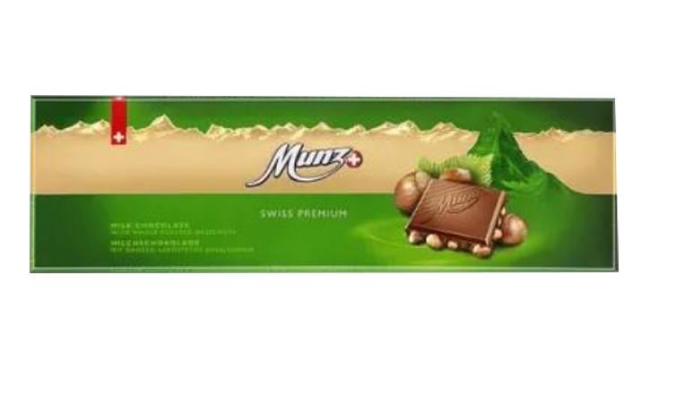 Молочний шоколад  з цільним фундуком Munz фото