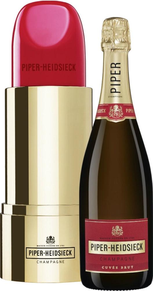 Шампанське Piper-Heidsieck Brut (Lipstick gift box) біле брют фото