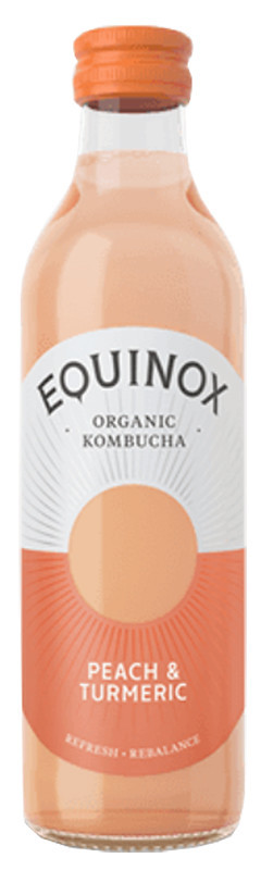 Комбуча с персиком и куркумой Equinox фото