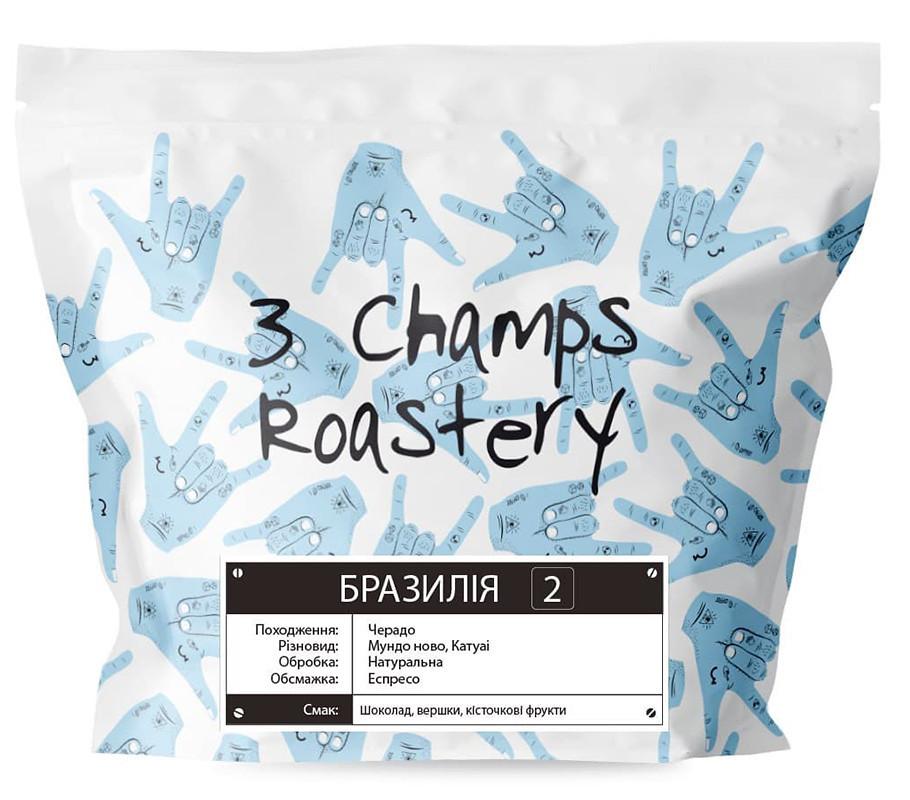 Кофе свежеобжаренных Бразилия 2 эспрессо 3 Champs Roastery фото
